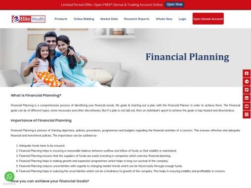 Elite Wealth Ltd Top Financial Planning Company in Delhi