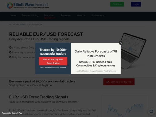 EUR USD Forecast – EUR/USD Signals, Technical Analysis, Charts, Index