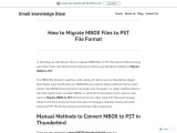 CONVERT MBOX FILE TO PST FILE