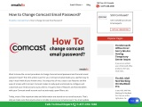 how to change comcast email password