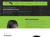 solid resilient tyres manufacturer in india