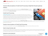 Common Misconceptions of Credit Card Processing in High-Risk Payment gateway Industry