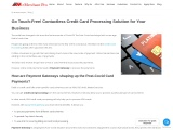 Go Touch-Free! Contactless Credit Card Processing Solution for Your Business