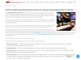 Prefer an Online Gaming Merchant Account for having exponential growth in business