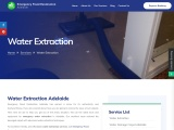 One of water extraction service in Adelaide: emergency flood restoration Adelaide