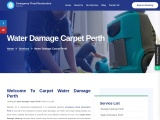 Water damage carpet drying Perth offers reliable and affordable carpet water damage services.
