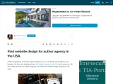 Find website design for author agency in the USA.