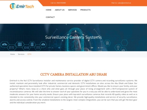 CCTV camera installation and maintenance services in Mussafah, Abu Dhabi.