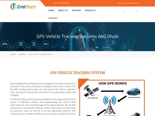 GPS tracking systems for vehicles. Buy the latest GPS tracking devices from Emirtech Technology.