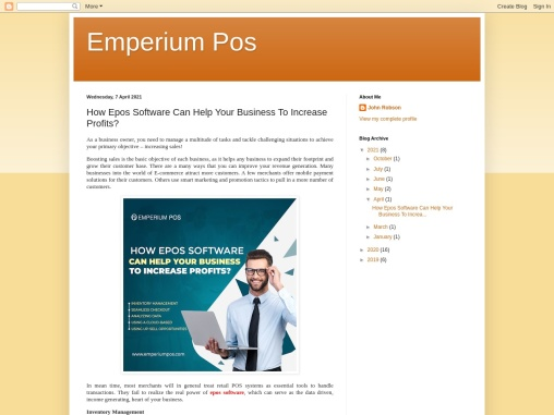 How Epos Software Can Help Your Business To Increase Profits?