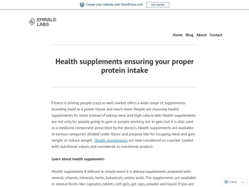 Health supplements ensuring your proper protein intake