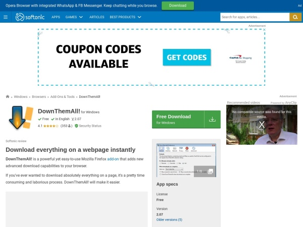 DownThemAll - Top 10 Best Download Manager For Windows (2020)