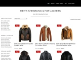 Buy online Men's Shearling Leather Jackets | ENGAGER MODE