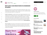 Best GATE coaching in Ranchi | Engineers Academy