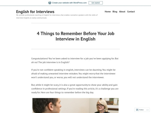 4 Things to Remember Before Your Job Interview in English – English for Interviews