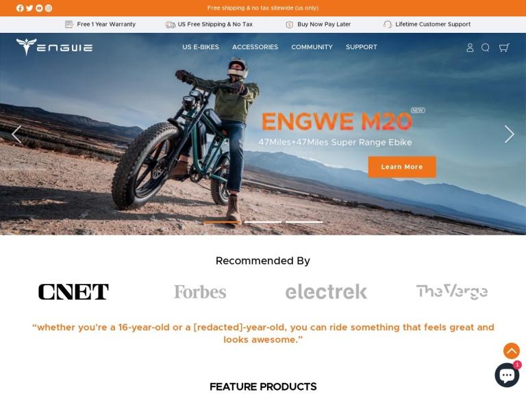 Engwe Bike Coupon Codes screenshot
