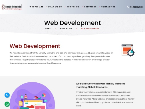 Web Development Service in Hyderabad | Ennoble Technologies