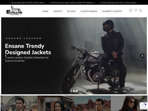 Ensane Leather Jackets For Men and Women | Leather Jackets Shop