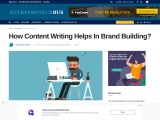 How Content Writing Helps In Brand Building?