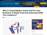 Why Is Social Media A Great Tool For Your Business To Build Trust And Instrument With Your Audience?