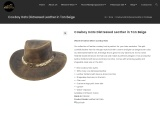Cowboy Hats Distressed Leather in Tan Beige | Equi Style