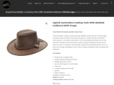 Equistl Australian Cowboy hats With Braided Hatband With Snaps