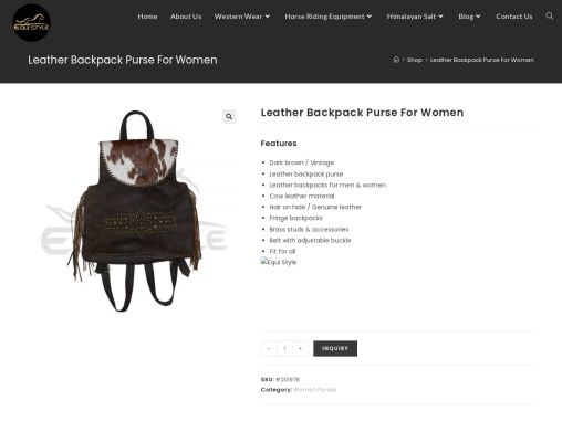 Leather Backpack Purse For Women (Dark Brown)   Equi Style