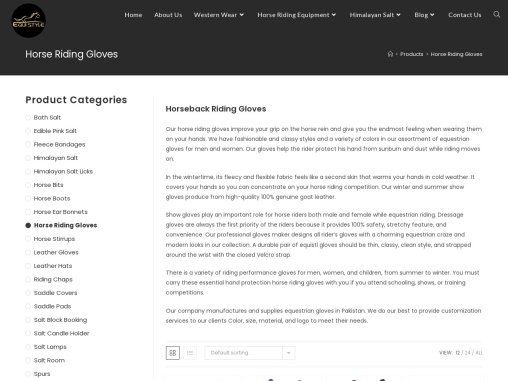 Horse Riding Gloves (Leather, Winter, Fingerless) | Equi Style