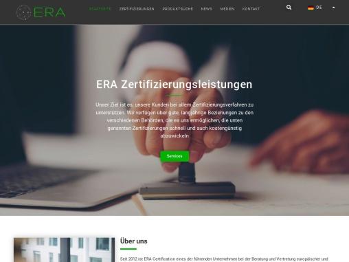 ERA Certification Europe GmbH – ERA Certification