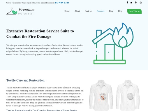 Fire Damage Restoration Services in Canada