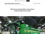 Why farmer should refer to John Deere Combine Adjustment Guide?