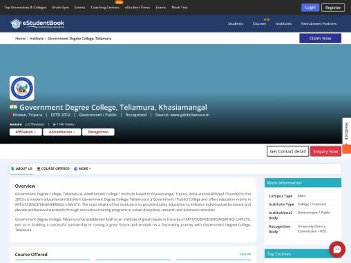 Government Degree College, Teliamura
