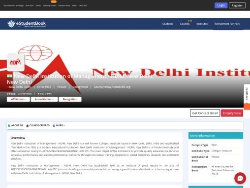 New Delhi Institution of Management – NDIM, New Delhi