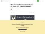 List of Finance Companies In UAE | Financial Consultants In Dubai