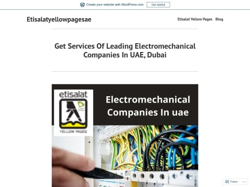 Top Electromechanical Companies In UAE   Electromechanical Companies In DUBAI