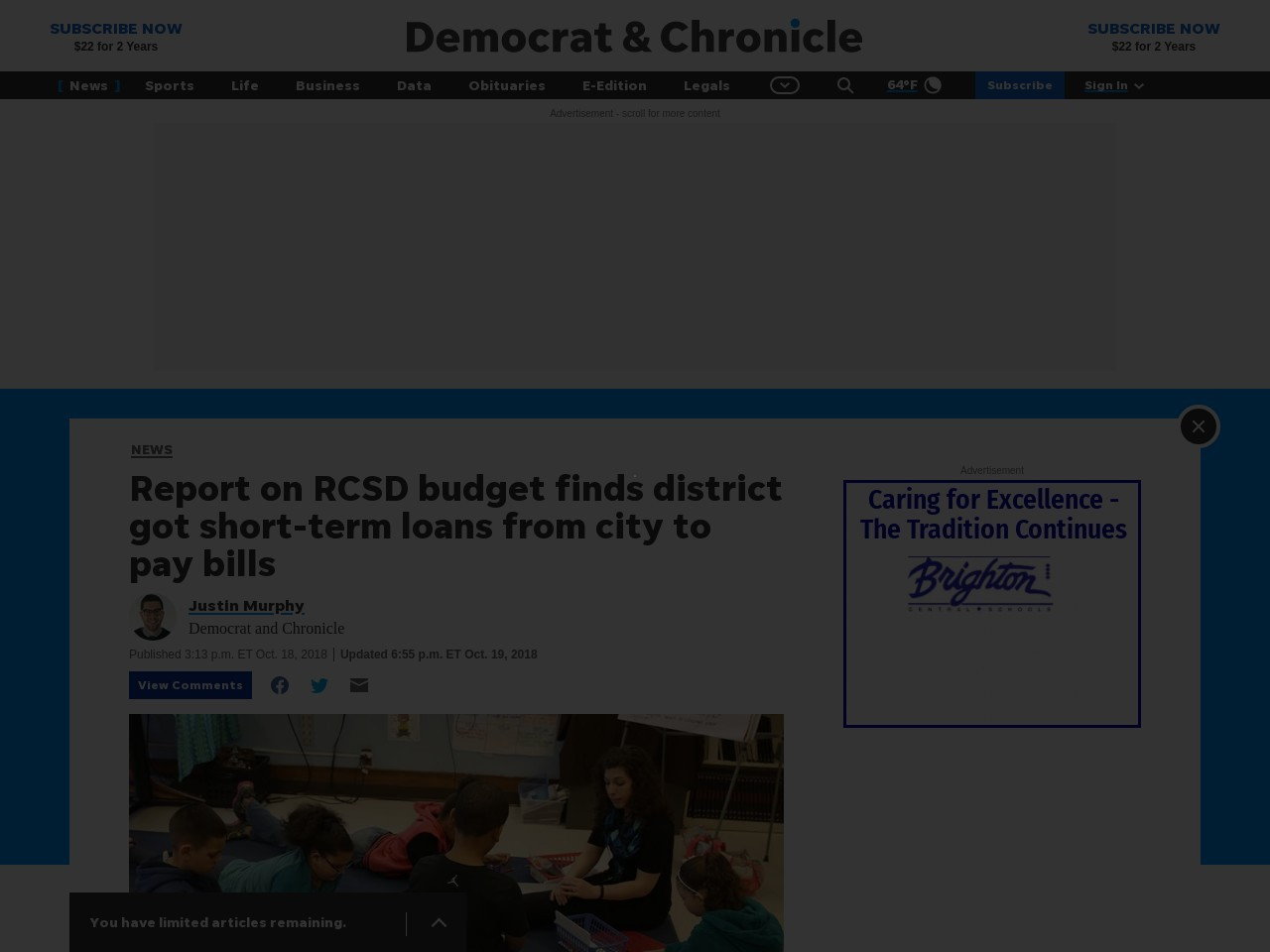 Report: RCSD budget process lacks foresight; unauthorized raises given
