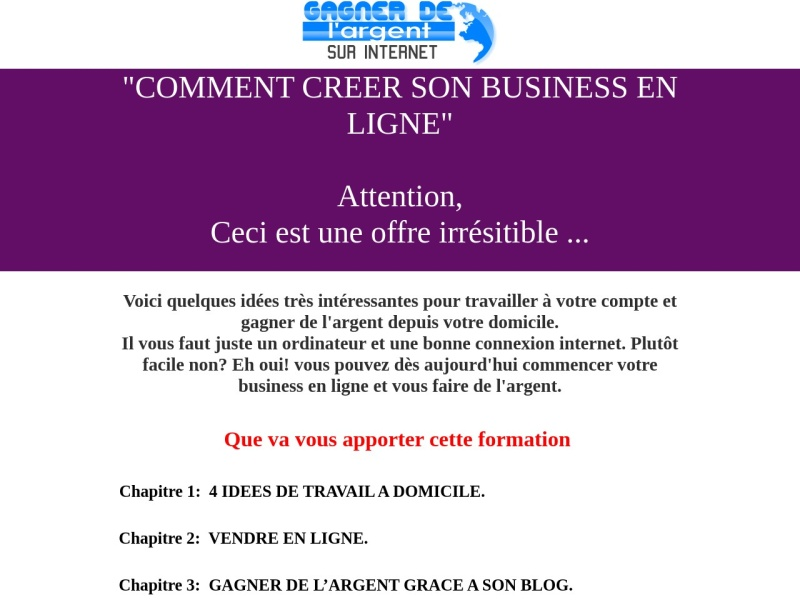 comment creer son business en ligne