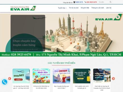 Dat Ve May Bay Eva Airlines Viet Nam