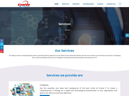 Evolve IT Solutions | Evolve IT-Our Services