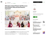 What does an Event Planner do |Why use an Event Planner | Why are Event Planners important