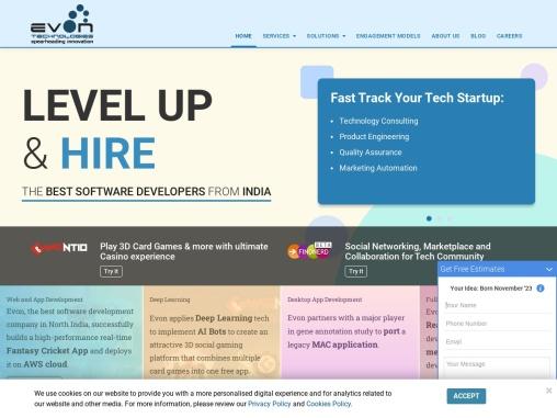 Evon Technologies – Web, App Software Development