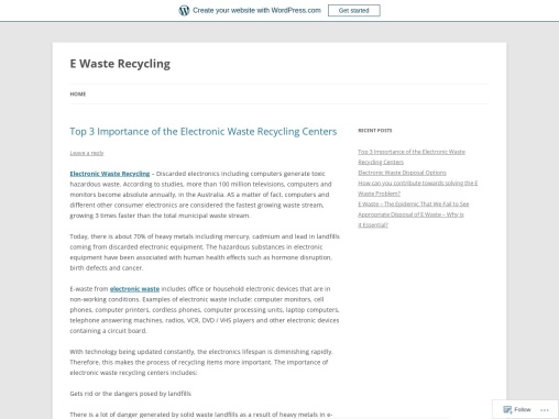 Top 3 Importance of the Electronic Waste Recycling Centers