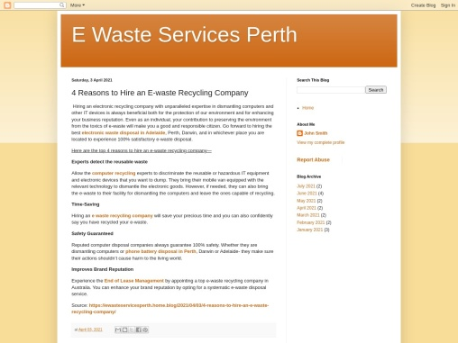 4 Reasons to Hire an E-waste Recycling Company