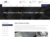 Alloy 20 Sheets & Plates Suppliers In Mumbai