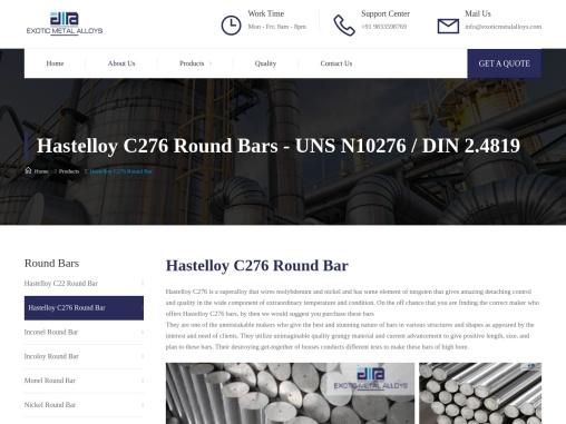 Hastelloy C276 Round Bar In Mumbai