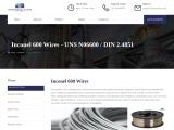 Inconel 600 Wire In Mumbai – Exotic metal Alloys