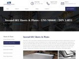 Inconel 601 Sheets & Plates Stockists In Mumbai