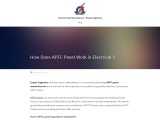 How Does APFC Panel Work in Electrical ?