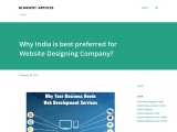 Why India is best preferred for Website Designing Company