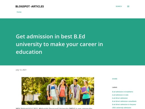 Get admission in best B.Ed university to make your career in education